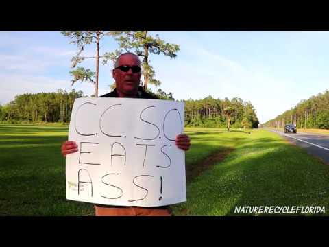 Lake City Florida   Protest at Columbia County Sheriffs Office
