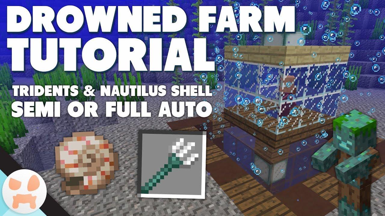 Drowned Farm Tutorial Simple Auto Or Semi Auto Youtube