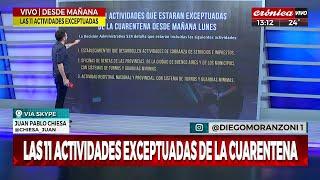 Las 11 Actividades Exceptuadas De La Cuarentena
