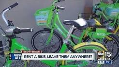 Bikes share users ditching bikes around Scottsdale