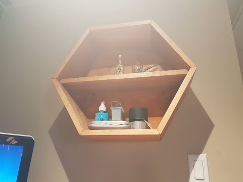 How to make D I Y  honeycomb Hexagon shelves