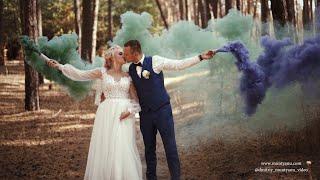 Очень красивая свадьба шикарная пара красивое место прогулки в Харькове. видеограф видеооператор.