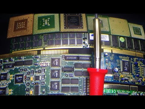 Removing Gold Fingers & Pins from RAM & CPU's