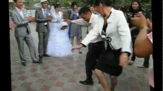 Day of weddings in Osh, Kyrgyzstan