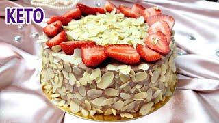 БЕЗ муки сахара и масла На любое торжество Клубнично шоколадный кето торт Кето рецепты