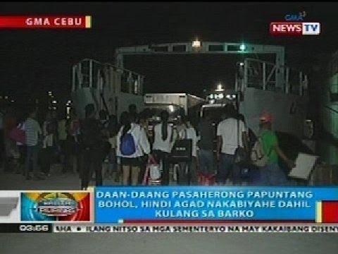 BP: Daan-daang pasaherong papuntang Bohol, hindi agad nakabiyahe dahil kinulang sa barko