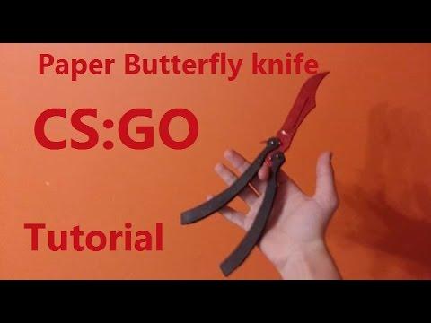 Paper butterfly knife from CS:GO V2 (tutorial)