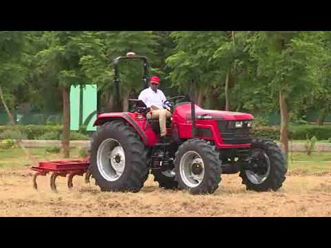 Mahindra driverless tractor technology - demonstration.