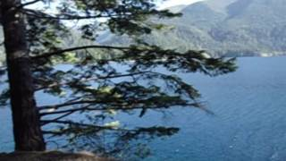 Spruce Railroad Trail along  Lake Crescent heading west