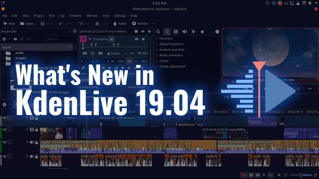 Kdenlive 19.04 | What's New?
