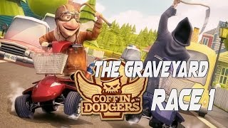 Coffin Dodgers Walkthrough Gameplay Detonado Story Mode - The Graveyard  Race 1  - No Commentary PC