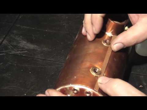 MAHOGANY CLADDING A MACCSTEAM COPPER BOILER