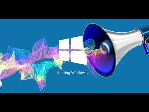 Как поменять звук включения windows 10