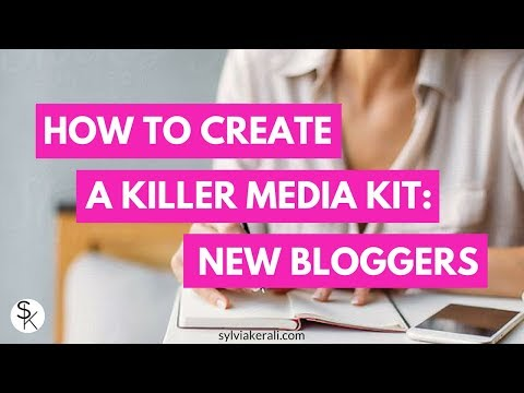 Create a Killer Media Kit on Canva (for NEW BLOGGERS!)