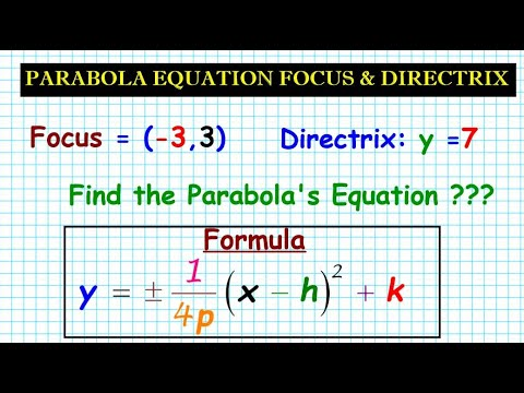 #14 How to Generate Equations of a Parabola Given Focus and Directrix thumbnail