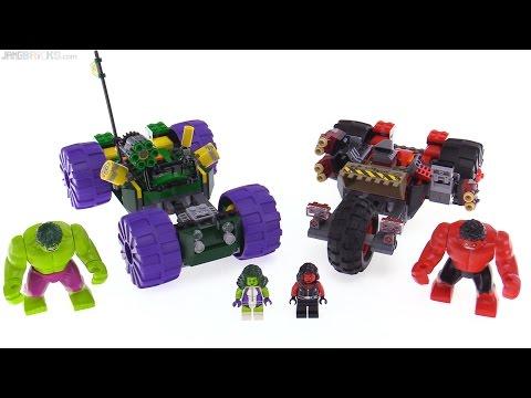 LEGO Marvel Super Heroes Hulk vs Red Hulk review! 76078