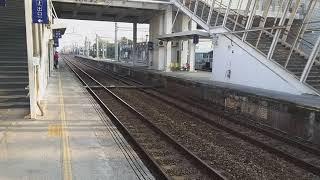 7801次貨物列車通過民雄站