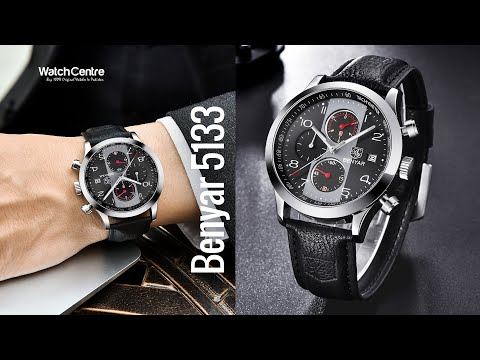 Benyar 5133 Black Military Style Chronograph Men's Wrist Watch Review