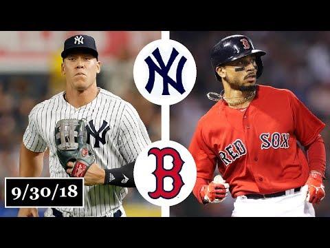 New York Yankees vs Boston Red Sox Highlights || September 30, 2018