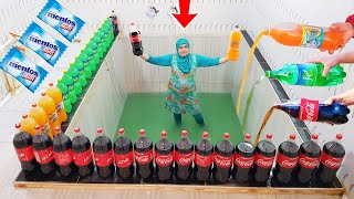 EXPERİMENT: BIG COCA COLA and MENTOS !!!!!!!!
