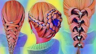 Красивые Прически в Школу на ДЛИННЫЕ волосы. Amazing Back to School Hairstyles Compilation 2018