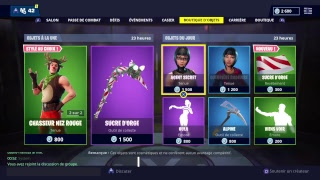 [FR-PS4-LIVE] FORTNITE BOUTIQUES OF DECEMBER 19 - NEW SKIN - A SUCRE SUCRE OF ORGE?