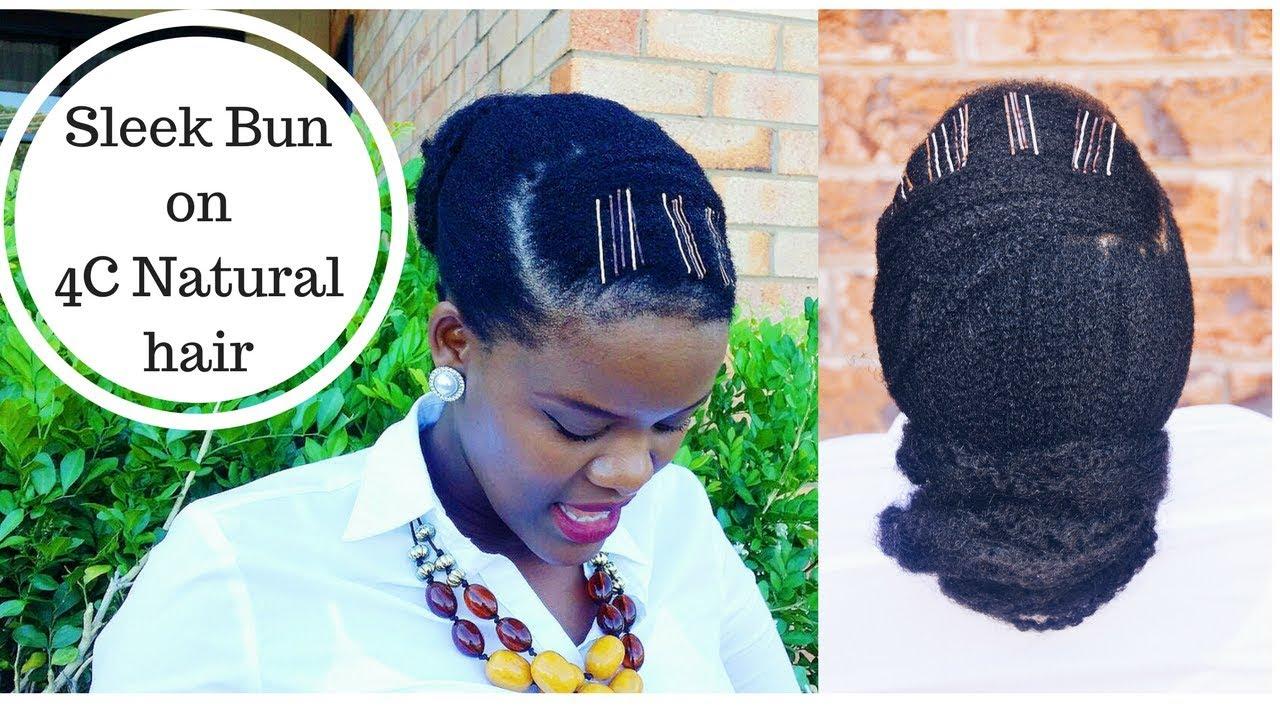 Sleek Low Bun Hairstyle On Short 4c Naturalhair Tsokungwoman