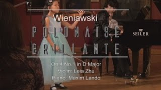 Wieniawski Polonaise Brillante Op 4 No 1 In D Major Leia Zhu Youtube