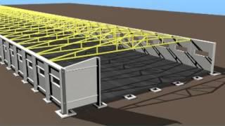 Свинокомплекс (БМЗ)(Процесс строительства свинокомплекс с импользованием технологии быстромонтируемых зданий (БМЗ), 2013-02-28T15:06:01.000Z)