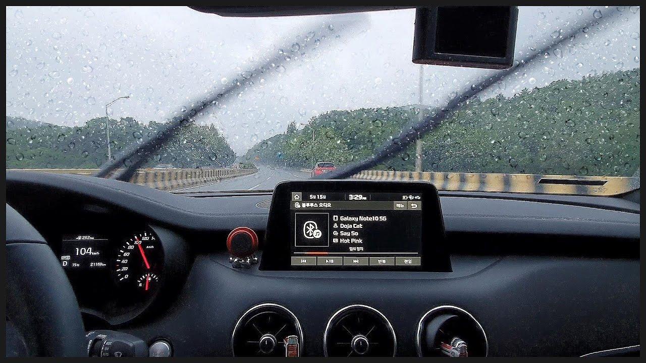 비오는날 스팅어타고 드라이브 (안드로이드 오토 사용후기, 게임 근황, 스승의날)