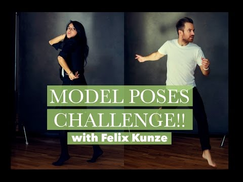 Model Poses Challenge with Felix Kunze | Bella Kotak