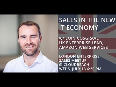 London Enterprise Sales Meetup - Fireside chat with Eoin Cosgrave, UK Enterprise Lead at AWS
