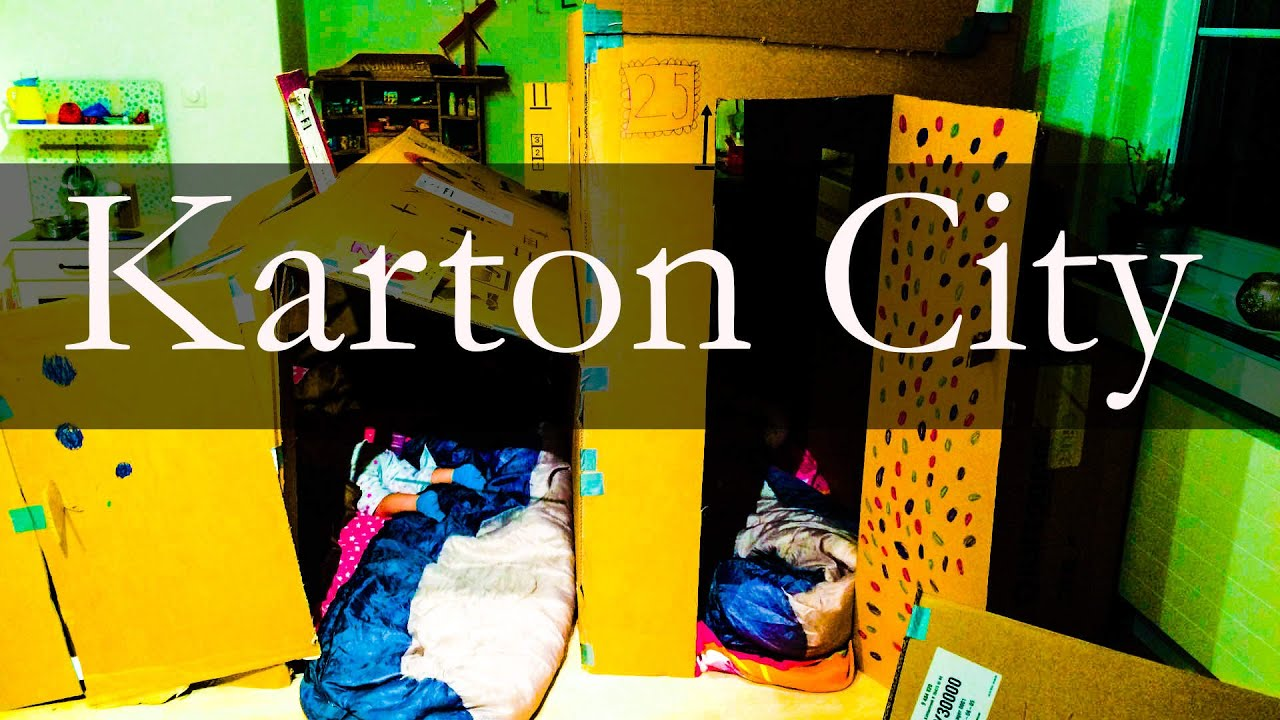 karton city h user aus karton f r kinder aktivit t youtube. Black Bedroom Furniture Sets. Home Design Ideas