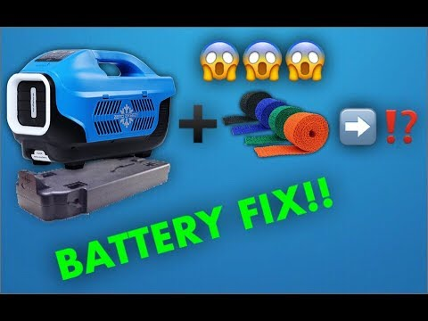 Zero Breeze Portable Air Conditioner: BATTERY FIX!!