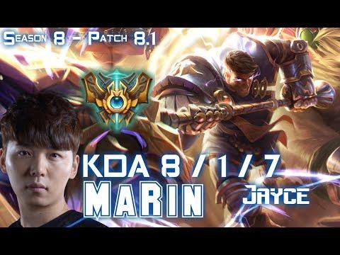 MaRin JAYCE vs JAX Top - Patch 8.1 KR Ranked