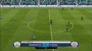 FIFA 13 - Online Seasons Gameplay - City v Bayern (1st Half)