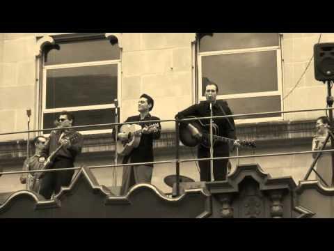 Million Dollar Quartet performs on The Majestic Theatre San Antonio, Texas Marquee!