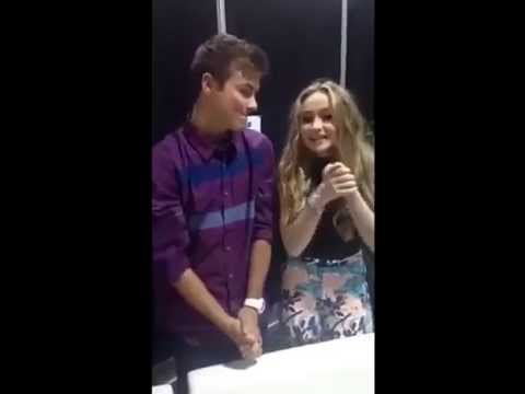 Sabrina carpenter and peyton meyer on d23 expo s snapchat august 15th