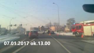 Wypadek na Kołłątaja w Będzinie 7.01.2017