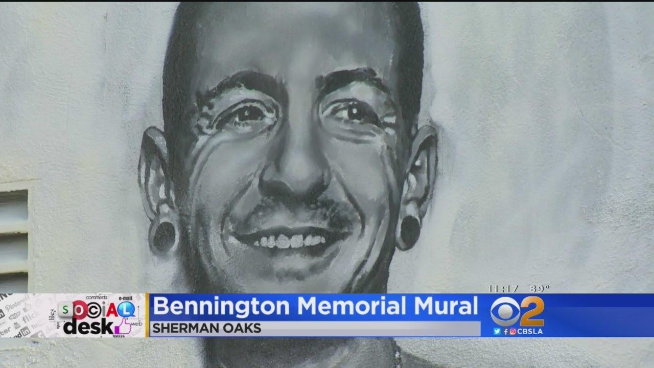 Memorial Mural Of Chester Bennington Stops Traffic On 101 Freeway