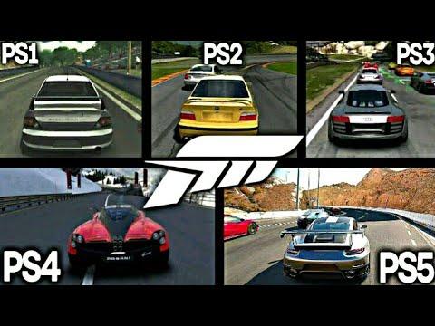 FORZA MOTORSPORT PS1 VS PS2 VS PS3 VS PS4 VS PS5