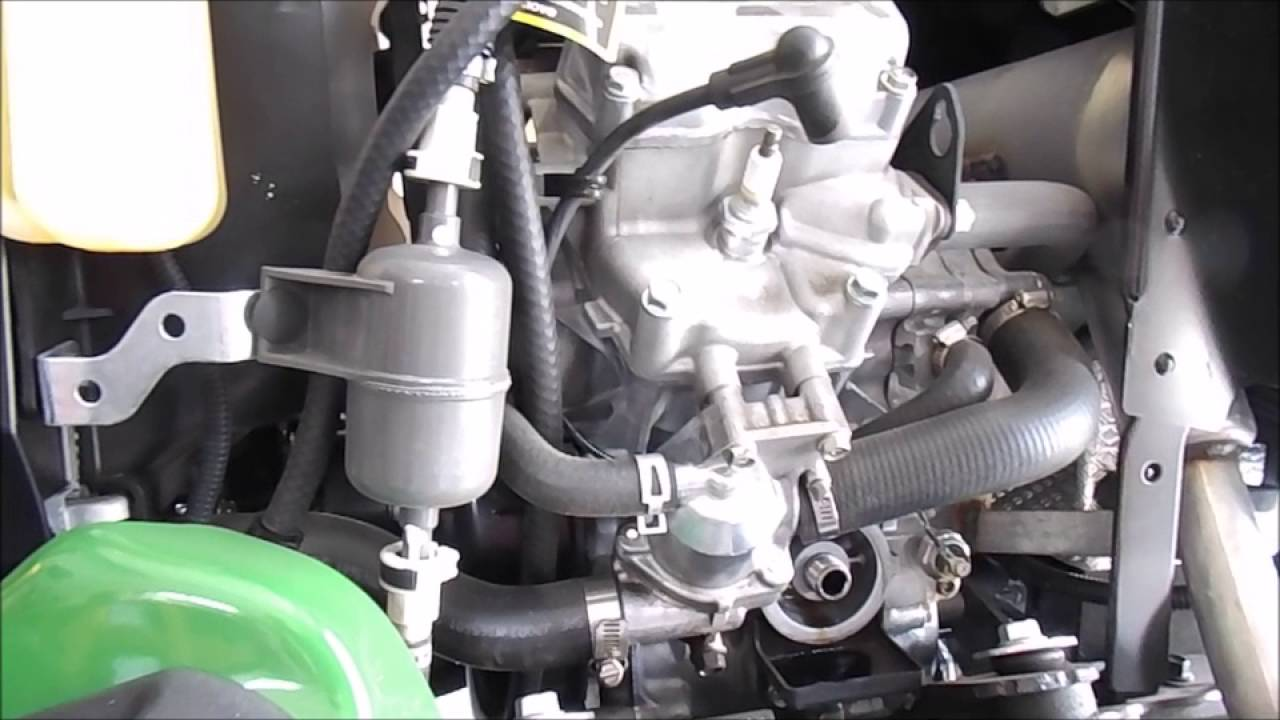 John Deere X738 Oil Change Youtube 316 Wiring Harness