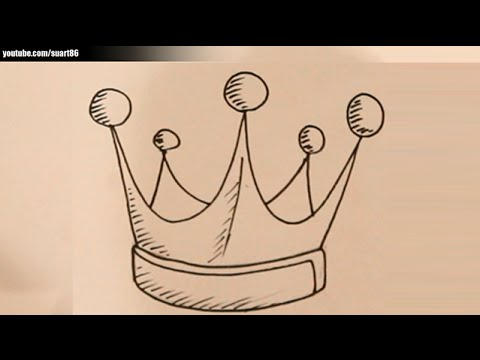 How To Draw A King Crown Youtube