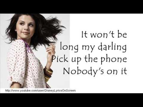 Selena Gomez & The Scene - Falling Down - Lyrics On Screen