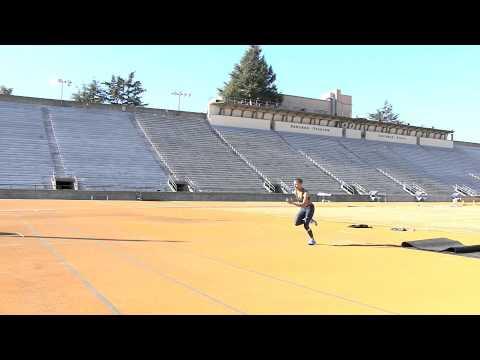 inika mcpherson high jump practice