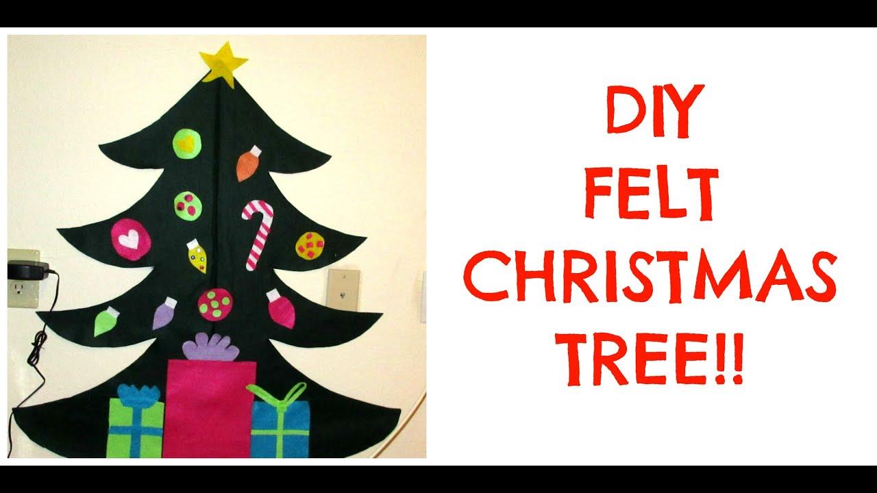 diy felt christmas tree toddler activity youtube. Black Bedroom Furniture Sets. Home Design Ideas