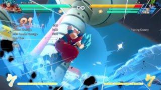Goku Blue (Assist: Base Vegeta) Block String into Dragon Rush Mixup