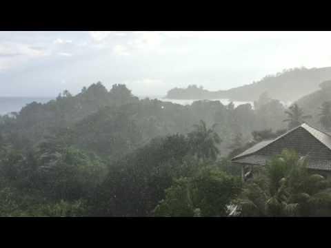 Beautiful rain in Seychelles