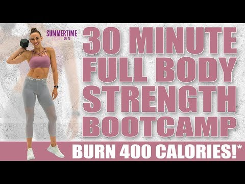 30 Minute FULL BODY HOME GYM STRENGTH BOOTCAMP! 🔥Burn 400 Calories!* 🔥Sydney Cummings