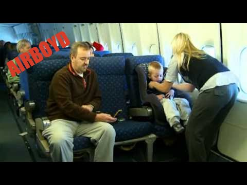 Installing A Car Seat On A Plane 2010 Youtube